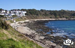 Castle Beach Panorama - Falmouth Cornwall