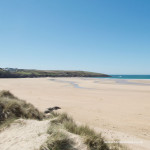 Crantock Beach near Newquay in Cornwall