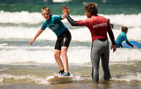 fistral beach surf school newquay cornwall