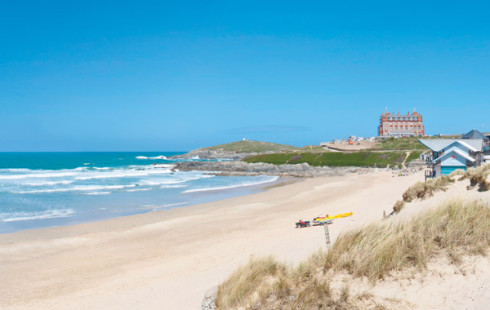 Fistral beach in Newquay Cornwall