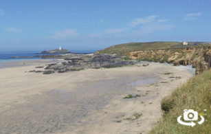 Godrevy beach in Hayle, West Cornwall