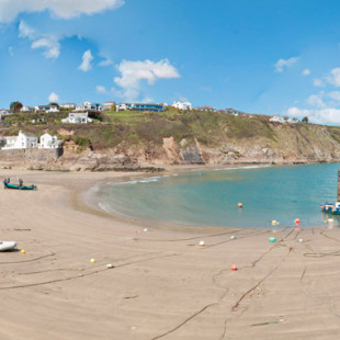 Gorran Haven beach near Mevagissey in Cornwall