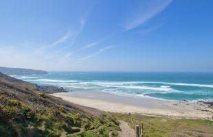 Gwenver Beach in West Cornwall