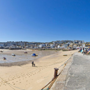 harbour beach in St Ives West Cornwall