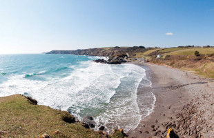 Kennack Sands beach on the Lizard Peninsula in West Cornwall
