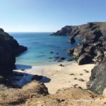 Beautiful turquoise seas on Kynance Cove