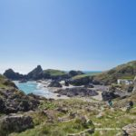The walk down to Kynance Cove Cornwall