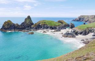 Kynance Cove on the Lizard Peninsula in West Cornwall