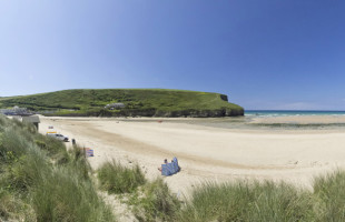 Mawgan Porth beach near Newquay Cornwall