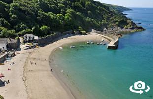 Polkerris Beach near Fowey in Cornwall