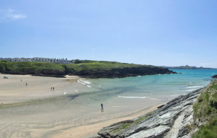 Porth Beach in Newquay Cornwall