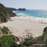 Porthcurno beach near Lands End in West Cornwall