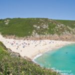 Summer on Porthcurno beach in West Cornwall