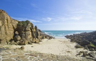 Porthgwarra beach near Land's End in West Cornwall
