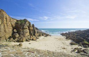 Porthgwarra beach near Land's End in West Cornwall