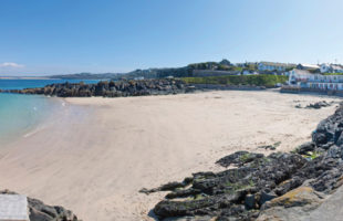 Porthgwidden beach in St Ives Cornwall