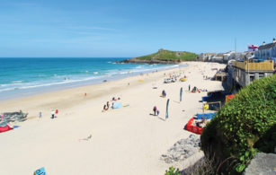 Porthmeor Beach in St Ives West Cornwall