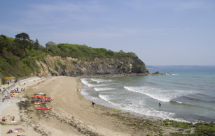 Porthpean beach near St Austell in South East Cornwall