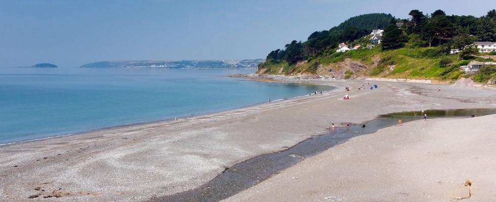 Seaton Beach in Cornwall