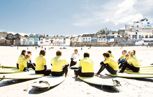 St Ives Surf School located on Porthmeor beach in St Ives West Cornwall