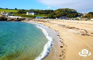 Swanpool Beach Panorama Falmouth Cornwall