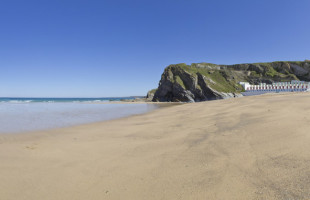 Tolcarne beach in Newquay Cornwall