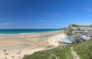 Watergate Bay beach in Newquay Cornwall