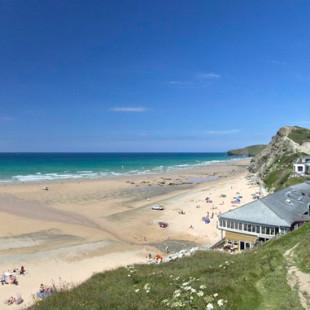 Watergate Bay beach in Newquay Cornwall
