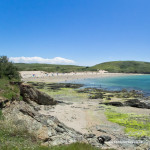 Daymer bay beach close to Polzeath beach in North Cornwall