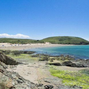 Daymer bay beach near Polzeath in North Cornwall