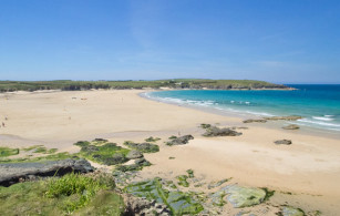 Harlyn Bay beach near Padstow in North Cornwall