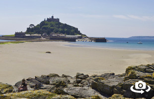 Marazion Beach near Penzance in West Cornwall
