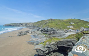 Trebarwith Strand Beach near Tintagel in north Cornwall