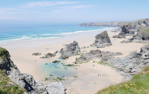 Bedruthan Steps in north Cornwall