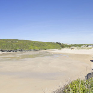 Porthcothan bay beach near Padstow in North Cornwall