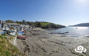 Helford Passage Beach near Falmouth in Cornwall
