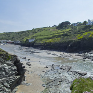 Port Gaverne beach near Port Issac in North Cornwall