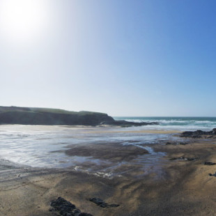 Treyarnon Bay beach near Padstow in North Cornwall