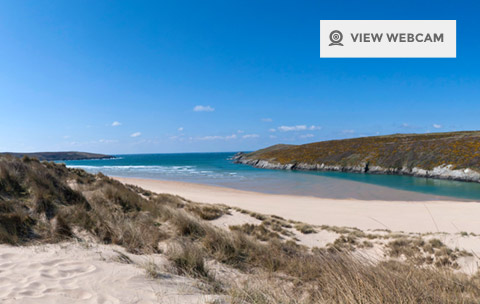 View live webcam of Crantock beach near Newquay Cornwall