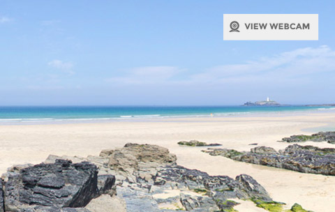 View live webcam of Gwithian Beach in Cornwall