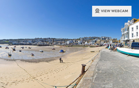 Harbour beach Webcam in St Ives Cornwall