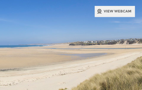 View live webcam of Hayle Beach in Cornwall