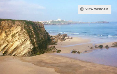 View live webcam of Lusty Glaze beach in Newquay Cornwall