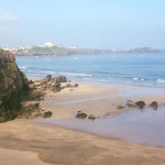 View Lusty Glaze beach Webcam in Newquay