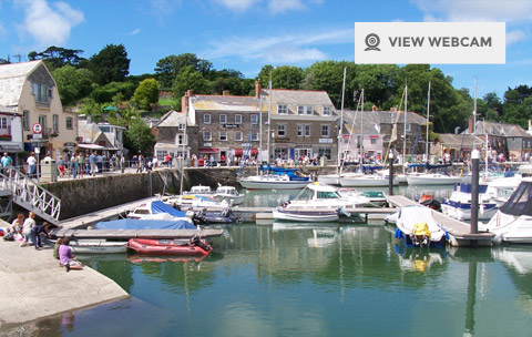 Live webcam of Padstow Harbour in North Cornwall