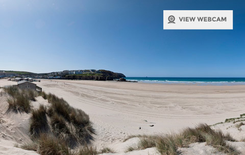 View live webcam of Perranporth Beach in North Cornwall