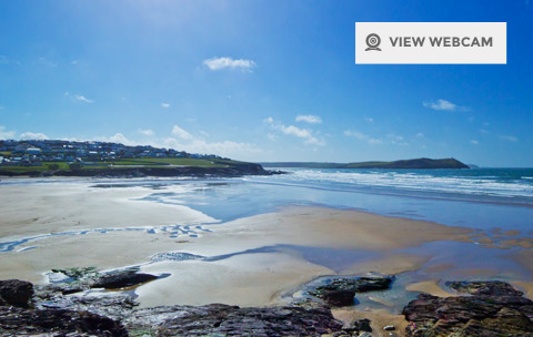 View live webcam of Polzeath Beach in Bude North Cornwall