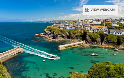 View live webcam of Port Isaac harbour in North Cornwall