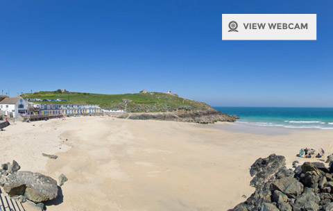 Live webcam of Porthgwidden beach in St Ives Cornwall