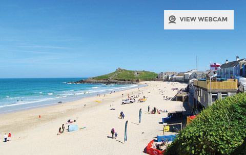 Live webcam of Porthmeor beach in St Ives
